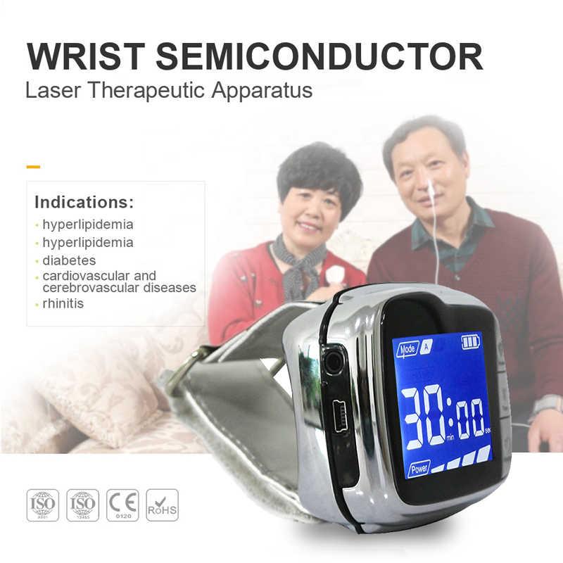 المنزل ليزر جهاز قياس السكر المعصم الباردة الليزر ساعة علاج ضغط الدم Blood Pressure Wrist Blood Pressure Monitorblood Pressure Monitor Wrist Aliexpress