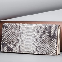 Authentic Real Python Leather Unisex Men's Long Card Holder Suit Purse Genuine Exotic Snakeskin Male Bifold Clutch Wallet