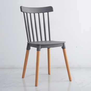 Nordic Windsor Chair ins Chair Leisure Dining Chair Simple Backrest Creative Plastic Chair Solid Wood Chair Designer Home Chair