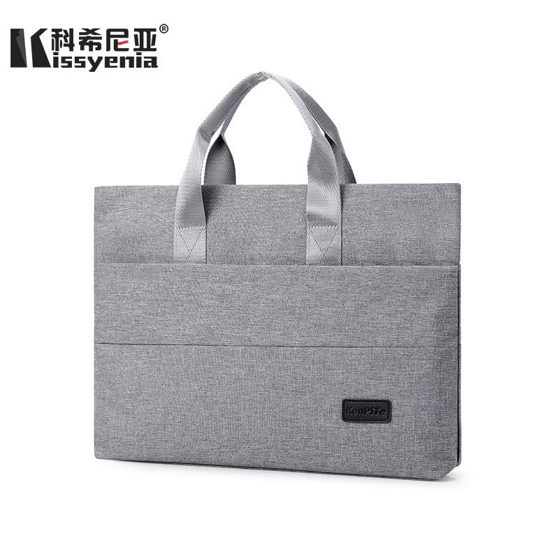 Kissyenia Simple 13 Inch Laptop Case Travel Business Briefcase Multifunction Anti-theft Computer Bag Men Portable Handbag KS1006