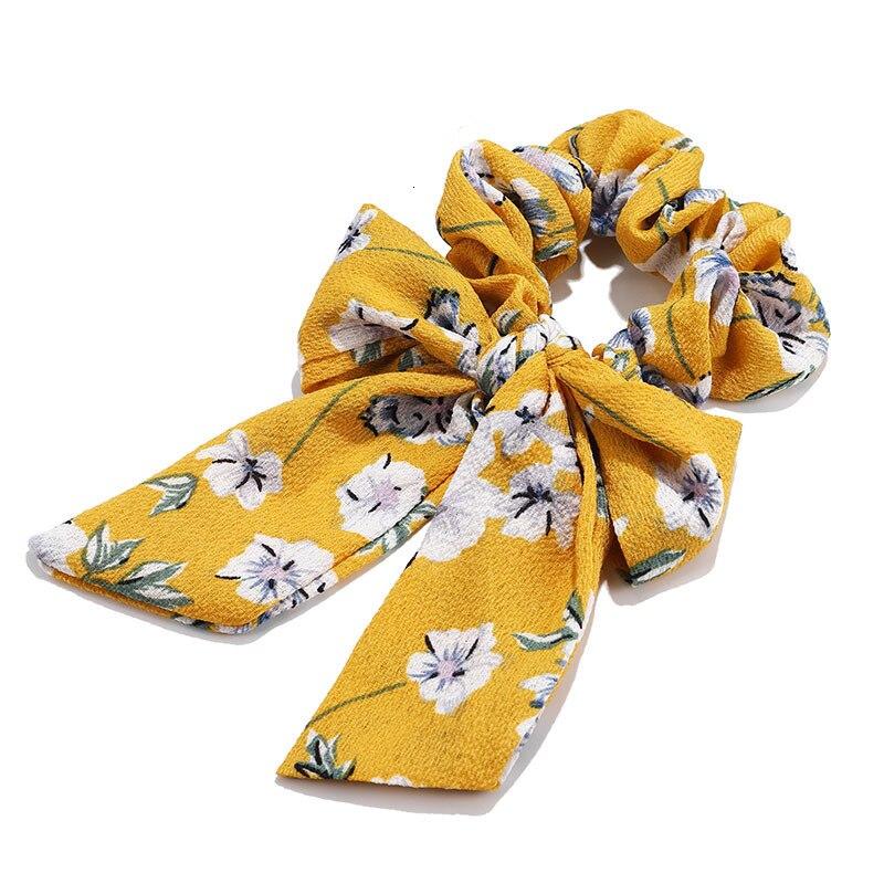 Mousseline de soie Cheveux Chouchous Femmes Mode Perle élastique pour queue de cheval Cheveux Cravate Cheveux Corde Élastiques Cheveux Accessoires couvre-chef en noeud 27
