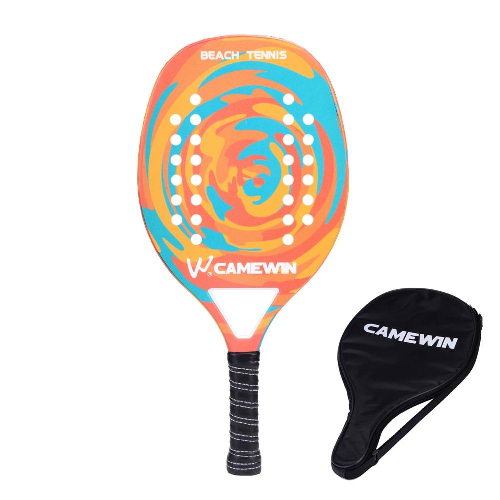 New Popular Beach Tennis Racket Carbon Fiber Men Women  Sport Soft Face Tennis Racquet With Paddle Bag Cover