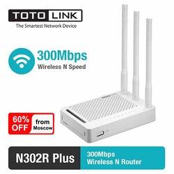 TOTOLINK router bezprzewodowy N302R + 300 mb/s 2.4Ghz 4*10/100 mb/s porty LAN rosyjski Firmware router wi fi dostawa z rosji w Routery bezprzewodowe od Komputer i biuro na
