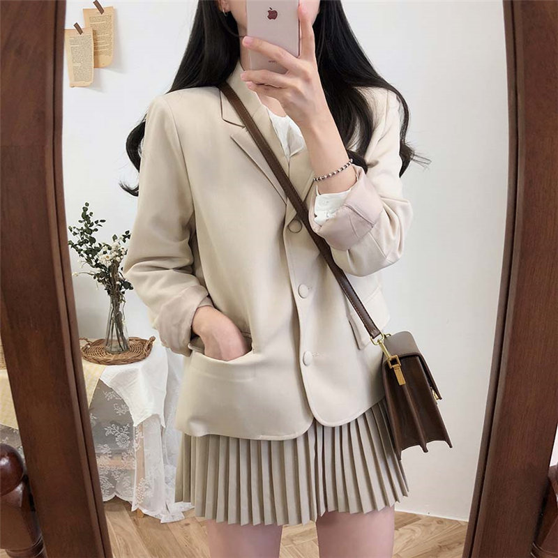 Alien Kitty All-Match Office Ladies Women High Quality 2019 Autumn Elegant Chic Chic High Street Feminine Fresh Stylish Blazers