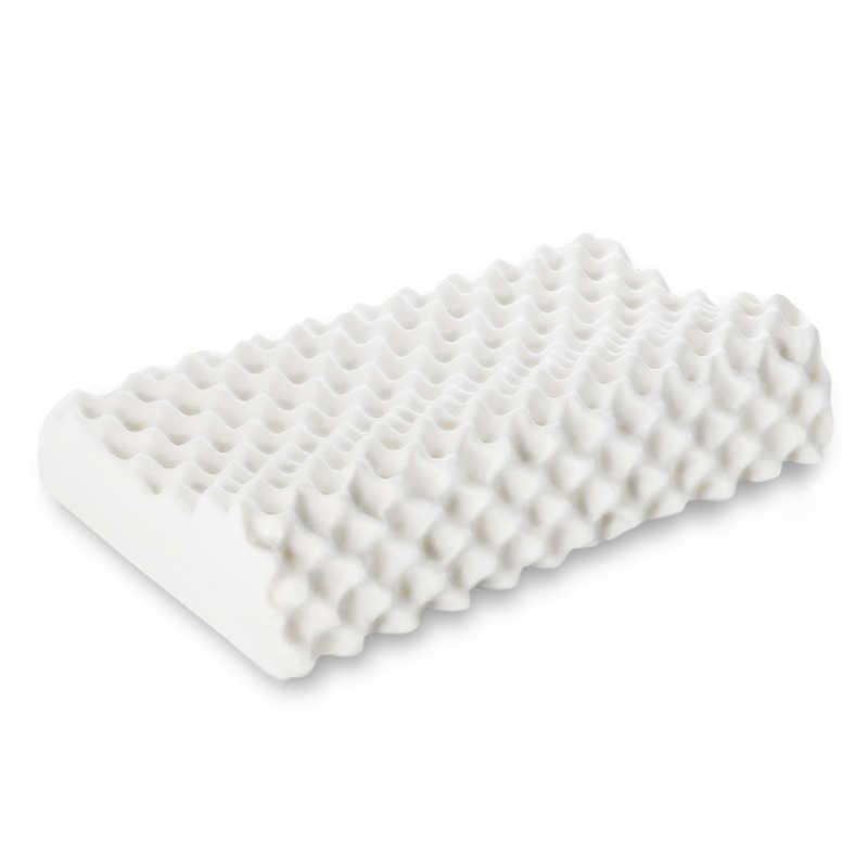 2019 Gaya Modern Cantik Bentuk Bantal Natural Latex Nyaman Wanita Leher Kepala Perawatan Kesehatan Bantal Tebal Breathable Rumah Tekstil