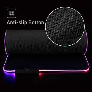 Image 4 - لوحة ماوس ألعاب HAVIT RGB USB LED 14 مجموعة من الأضواء لوحة مفاتيح مضيئة ممتدة بطانية غير قابلة للانزلاق بساط 350*250 و 800*300