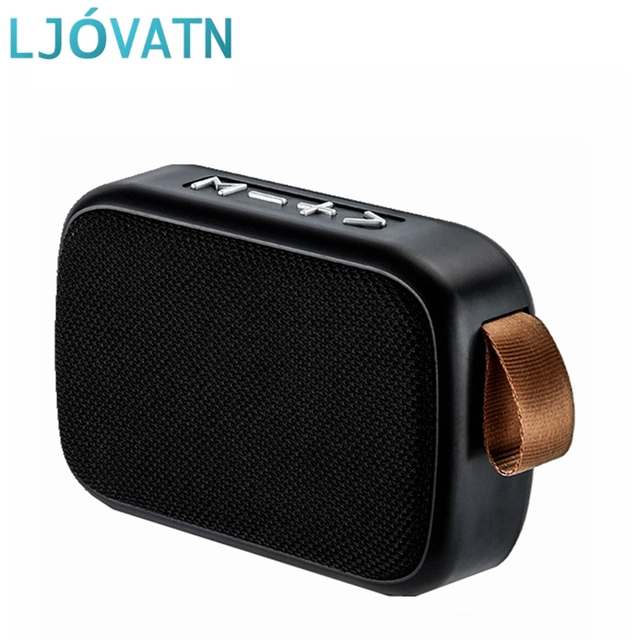 LJOVATN Bluetooth Speaker Portable Subwoofer Stereo Music Surround Outdoor Loudspeaker Support TF Card For smartphone  computer