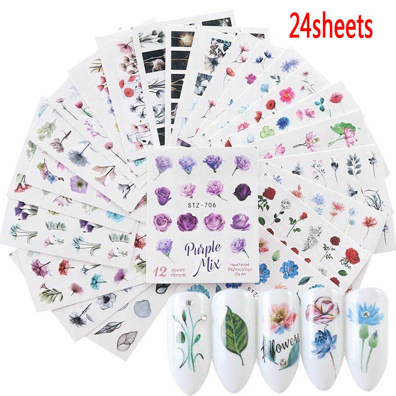 24sheets  Nail Sticker