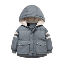 SAGACE Kids Jassen Kinderen Winter Outdoor Jassen Voor Jongens Doek Hooded Warm Cartoon Bovenkleding Windjack Baby Kids Dunne Jassen(China)
