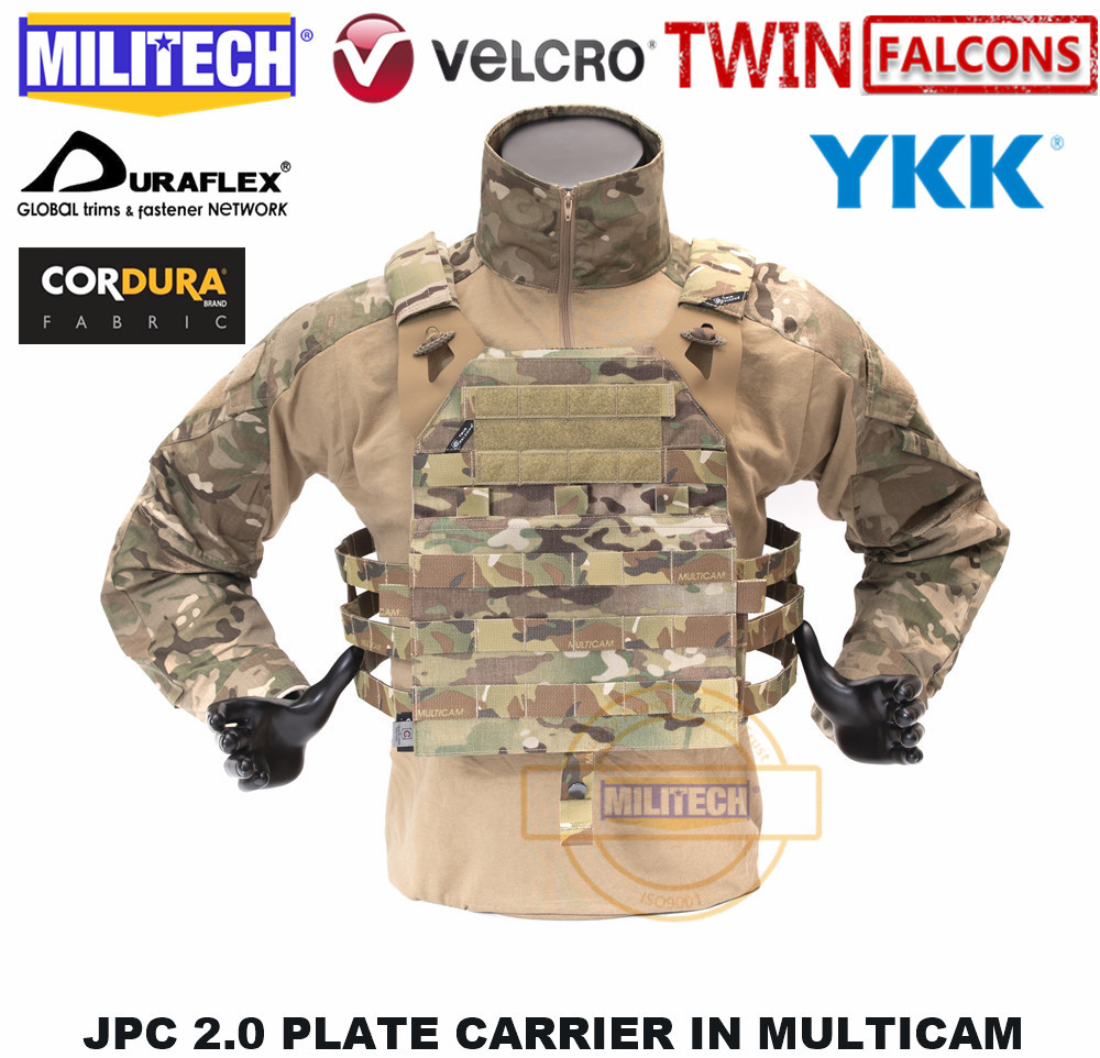 MILITECH TW TWINFALCONS JPC 2.0 PLATE CARRIER TACTICAL VEST MADE OF DELUSTERING CORDURA MIL SPEC CARRIER VEST CRYE CP VEST