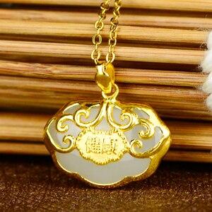 Image 2 - Gold plated Baby สีทองยาวจี้จี้หยกหยกพระพุทธรูป Gong สร้อยคอ