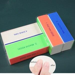 1/3 Pcs Nail Files 4 Sides Sponge Nail Buffer Block Polishing Sanding Block Tools for Nail Art With Gel Nail Art For Design