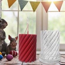 DIY Форма для свечей, Пластиковая форма для ручного изготовления свечей, спиральная форма, форма для свечей, восковые формы для формовки, ремесло, инструмент 5*10,2 см