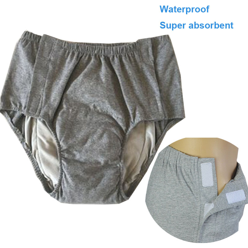 Adult Cloth Diaper Nappy Incontinence Cover Waterproof Reusable Washable Elderly People Underwear Cotton Wide Elastic Pants ABDL