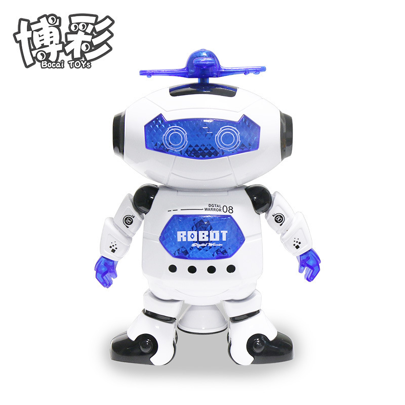 Electric Toys Space Dancing Robot 360-Degree Rotating Wind Dancer The Light And Sound Stall Hot Selling
