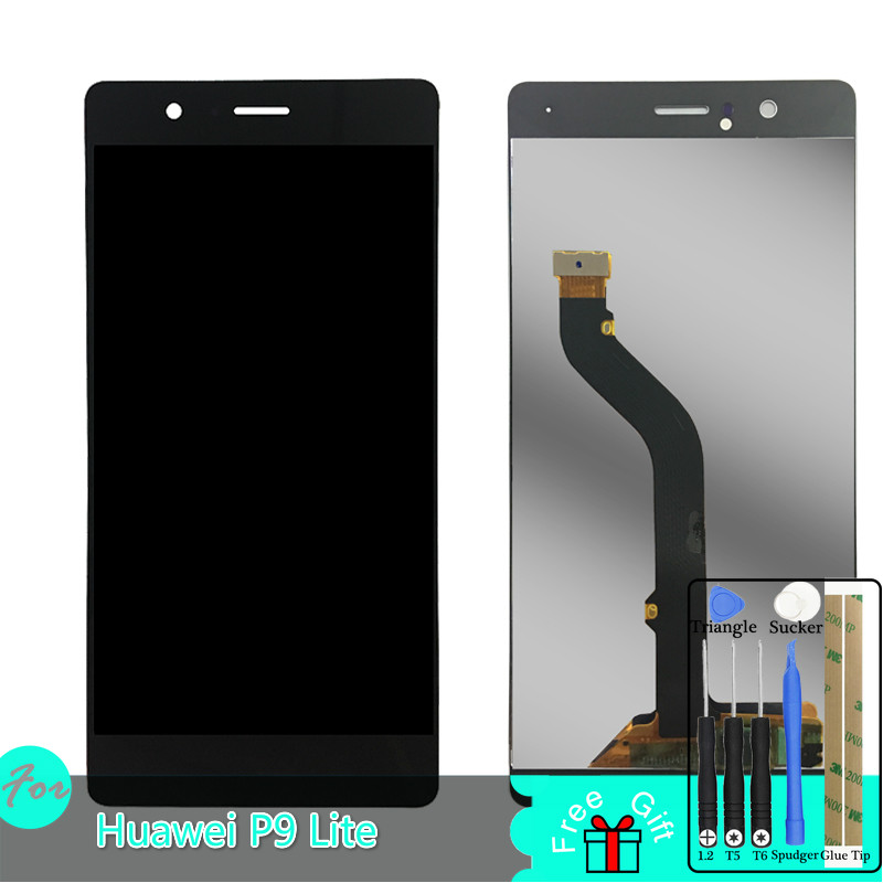 SZMUGUA LCD For Huawei P9 Lite VNS L21 L22 L23 VNS L31 L53 LCD Display + Touch screen Digitizer Assembly Replacement With Tools