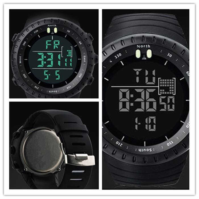 GIMTO ساعة رقمية كبيرة الرجال الساعات الرياضية لتشغيل ساعة توقيت مقاوم للماء miltar LED ساعات المعصم الإلكترونية الرجال 2019 هدية