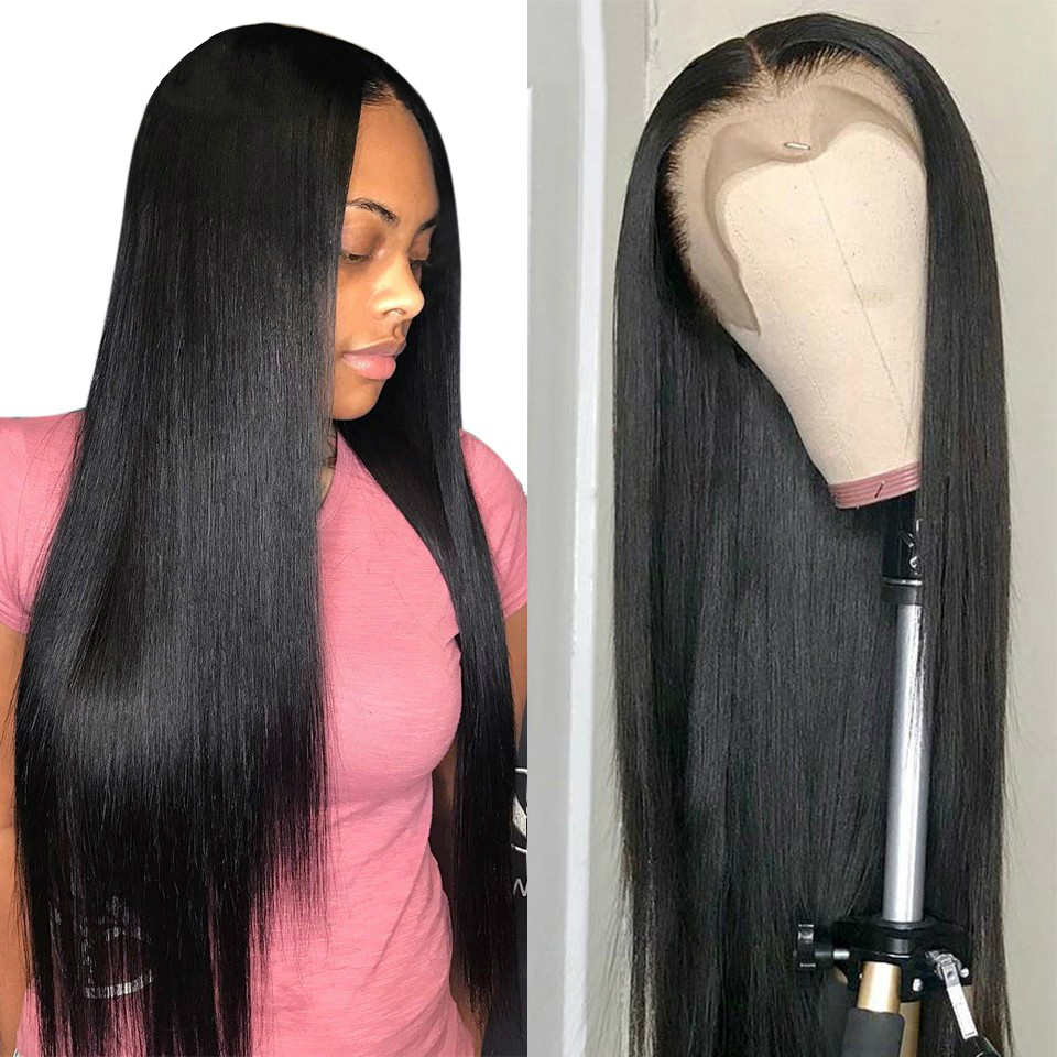 Karizma 13X6 Straight Lace Front Wig 150 Density Remy Straight Brazilian Human Hair Glueless Lace Frontal Wigs For Black Women