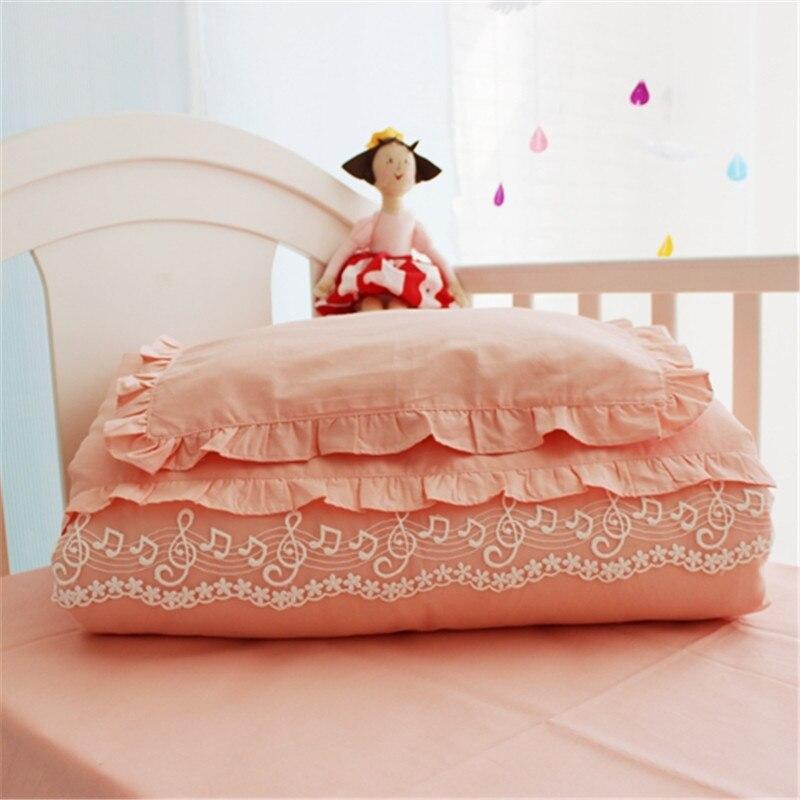 Комплект постельного белья для новорожденных, 2 шт./компл., милый кружевной наряд принцессы, комплект для детской кроватки, детское одеяло + п