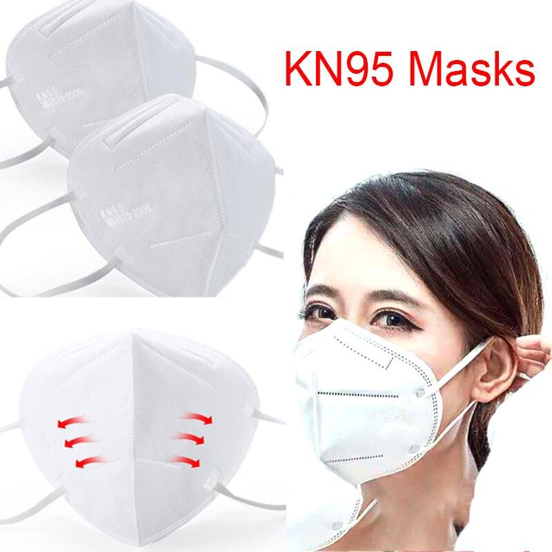 1 шт. нетканые тканевые защитные маски одноразовые маски KN95 маска для лица частицы пыли фильтр 95% фильтрации