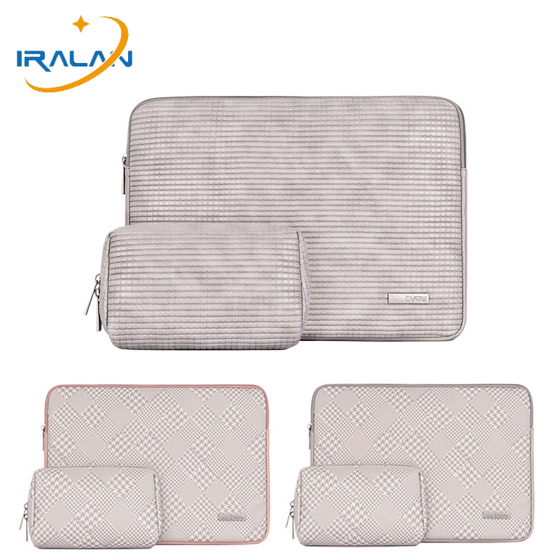 New PU Leather Sleeve Laptop Bag 14 14.1 For Macbook Air 13 2018 2019 Pro <font><b>15</b></font> Touch Bar Case For Xiaomi <font><b>Asus</b></font> Lenovo Notebook Bags image
