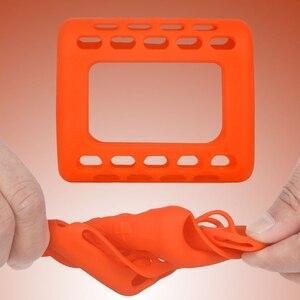 Image 5 - Coque peau de protection en Silicone coloré anti poussière avec mousqueton pour haut parleur Bluetooth JBL GO 3 Go3
