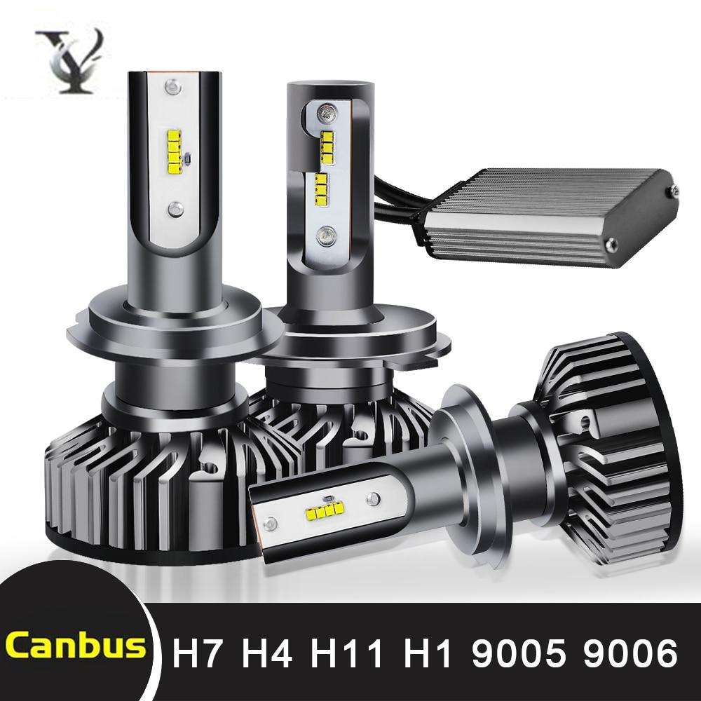 Super Bright H7 Mini Led Headlight Bulbs H4 H1 H11 H8 H9 9005 HB3 H10 9006 HB4 9012 HIR2 Hi-Lo Beam Auto Headlamp Light Canbus