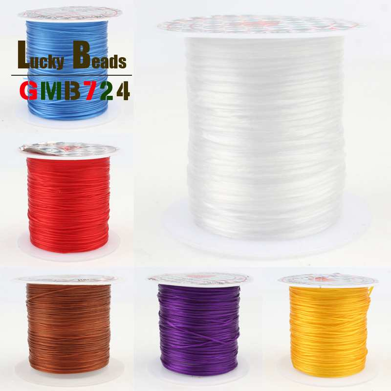 Eight Colors Strong Stretchy Elastic Beading Wire Cord String Thread 10M/roll 0.8mm For Jewelry Making DIY Bracelet Accessories