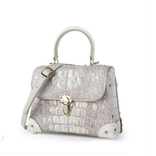 цены ouluoer new 2019 Thai crocodile leather bag for women big brand small square bag cross shoulder women's handbag