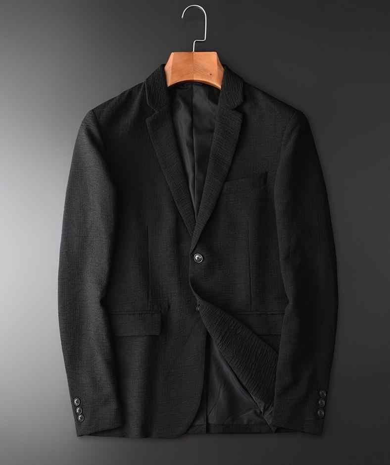 Однотонный черный роскошный цвет однобортный мужской модный осенний приталенный простой блейзер для мужчин размера плюс 4XL