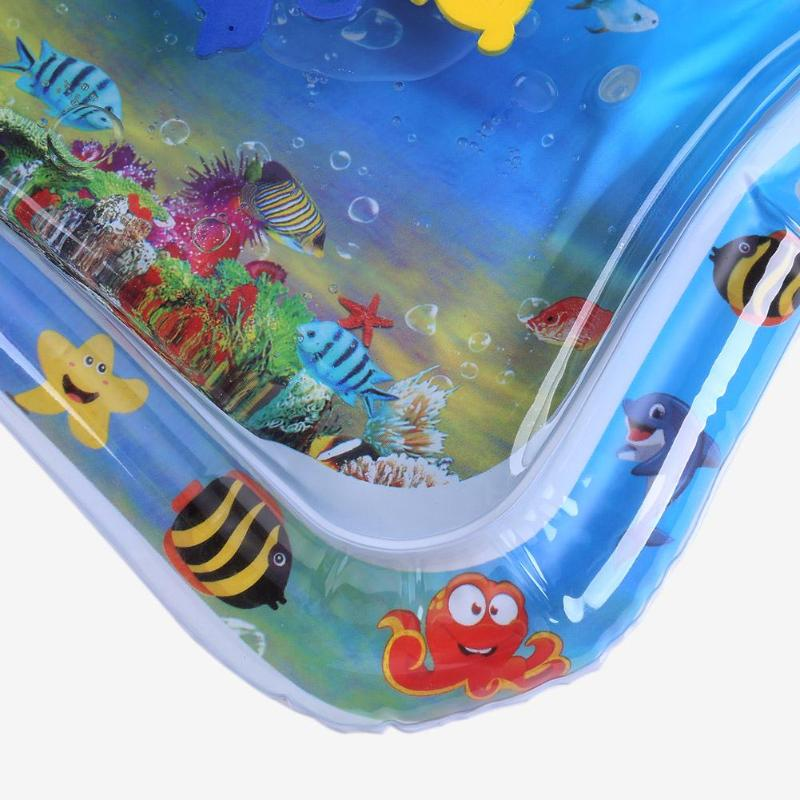 H67536b14a50d410aa67207d4c3f3ceeeP Baby Kids Water Play Mat Inflatable Infant Tummy Time Playmat Toddler for Baby Fun Activity Play Center Baby Toddler Toys