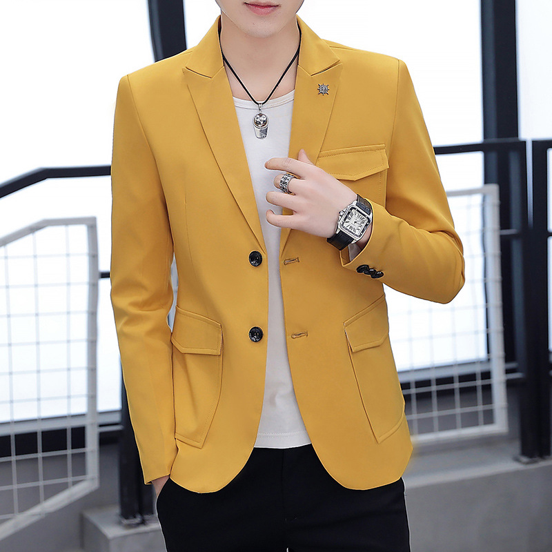Small Suit Male Slim Fit Leisure Suit Autumn Single West Men Single Piece Top Youth Thin Coat Chao