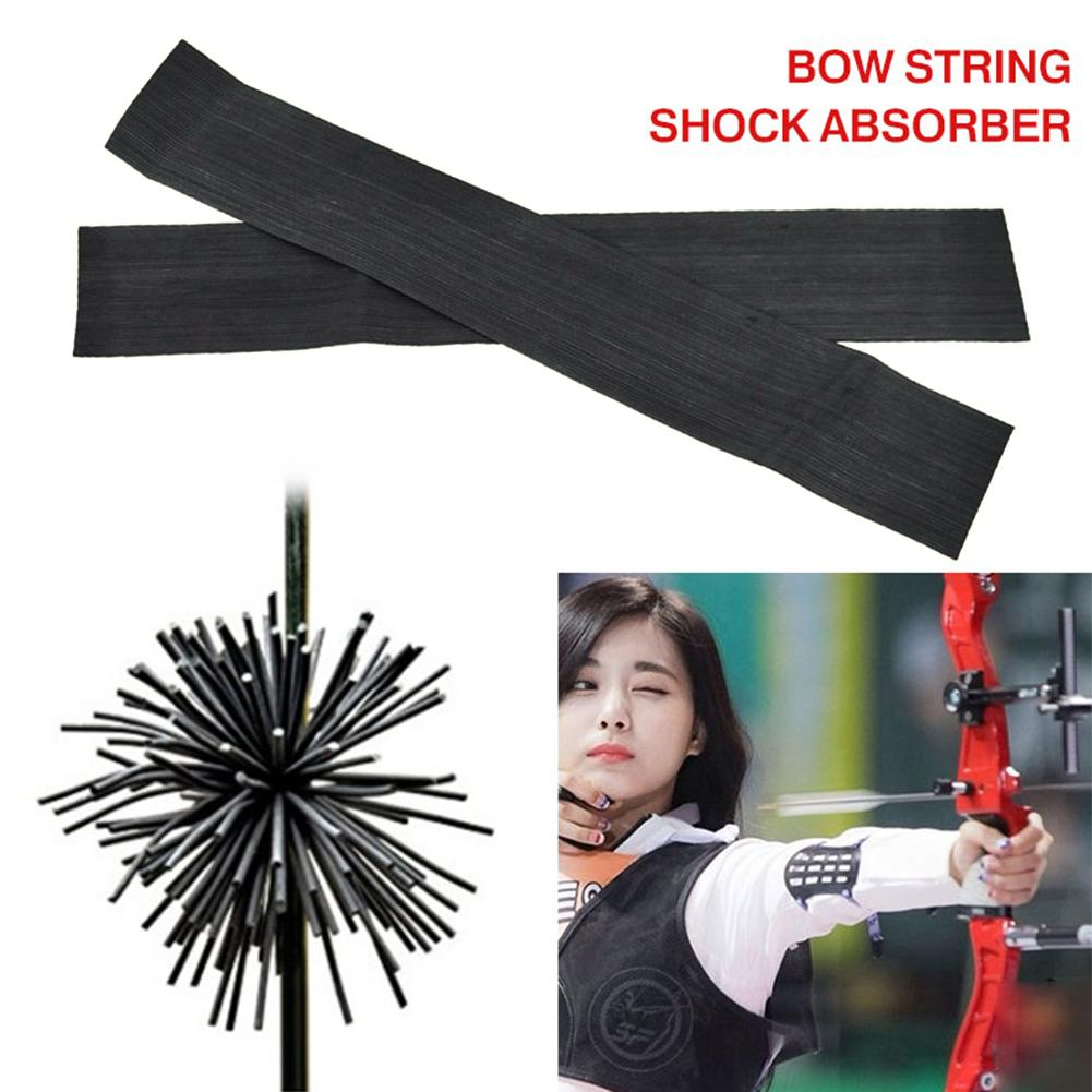 Whisker Bowstring Silencer Rubber String Vibration Noise Damper Archery Recurve Bow Shock Absorber Bow Accessories