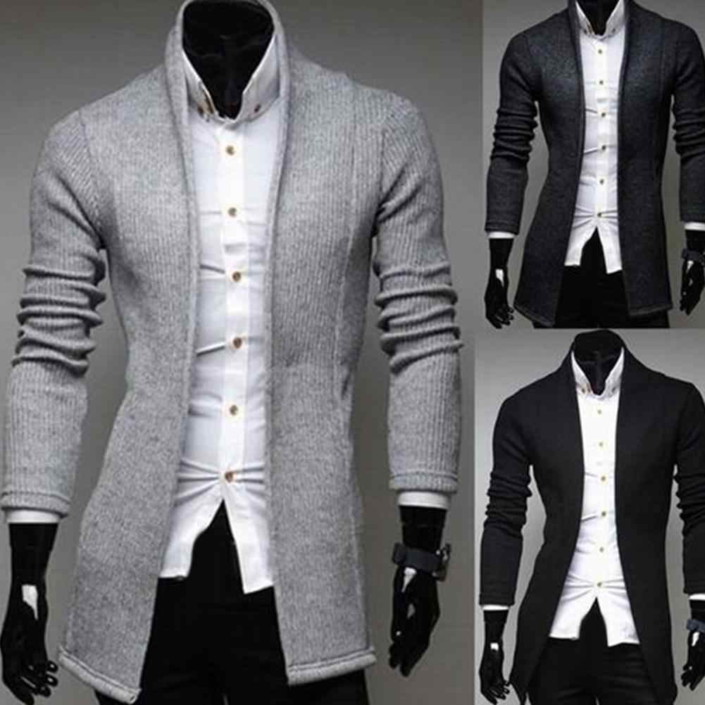 남성 빈티지 블레이저 코트 니트 만다린 칼라 비즈니스 드레스 블레이저 캐주얼 자켓 남성 s-lim suit jacket 남성 코트 겨울