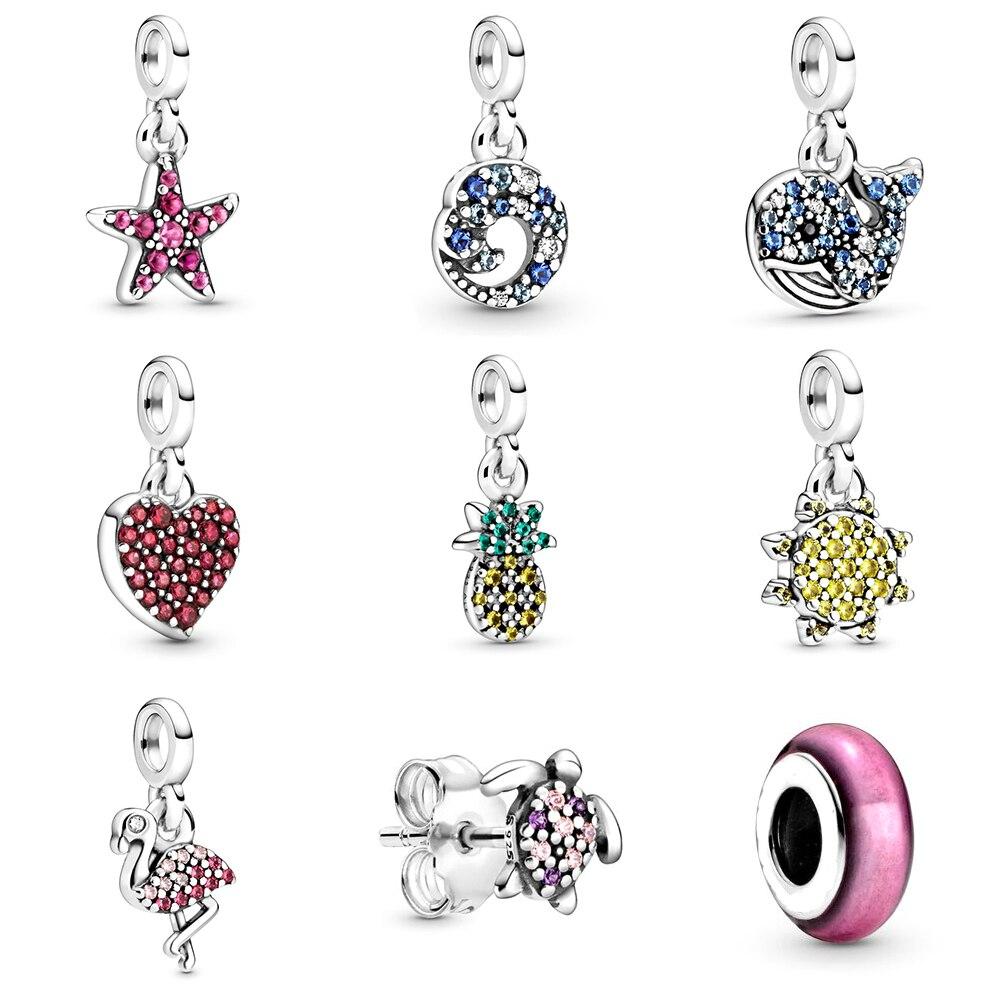 NEW 2020 100% 925 Sterling Silver Summer My Me Series Love Pendant Charm Fit Diy Women Original Bracelet Fashion Jewelry Gift
