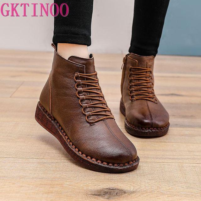 GKTINOO Women Ankle Boots Waterproof