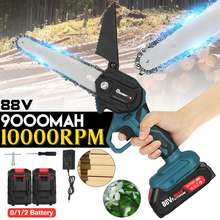 3000W 88VF 6 Inch Mini Electric Saw Chainsaw Garden Tree Logging Saw Woodworking Tools Wood Cutters For Makiita 18V Battery