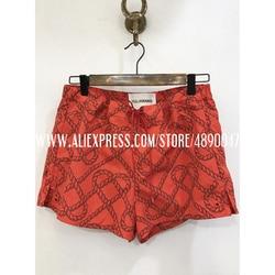 Модные повседневные шорты со средней талией на шнуровке для женщин 2020, красные шорты с принтом, пляжные сексуальные шорты, спортивные повсе...