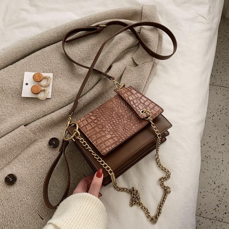 LOOZYKIT Fashion Women Shoulder Bags Designer Handbags Luxury Pu Leather Chains Female Crossbody Bag Small Flap Lady Purse 2020