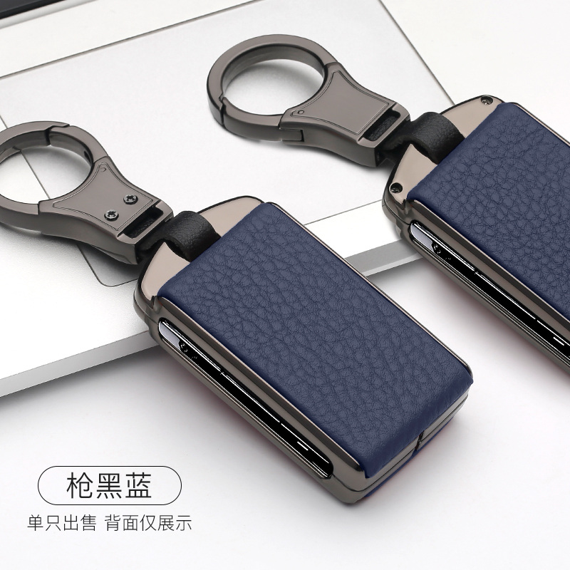 High Quality Zinc Alloy Leather Car Smart Key Case Cover Shell For Volvo XC60 XC40 S90 XC90 V90 2018 2019 2020 Accessories
