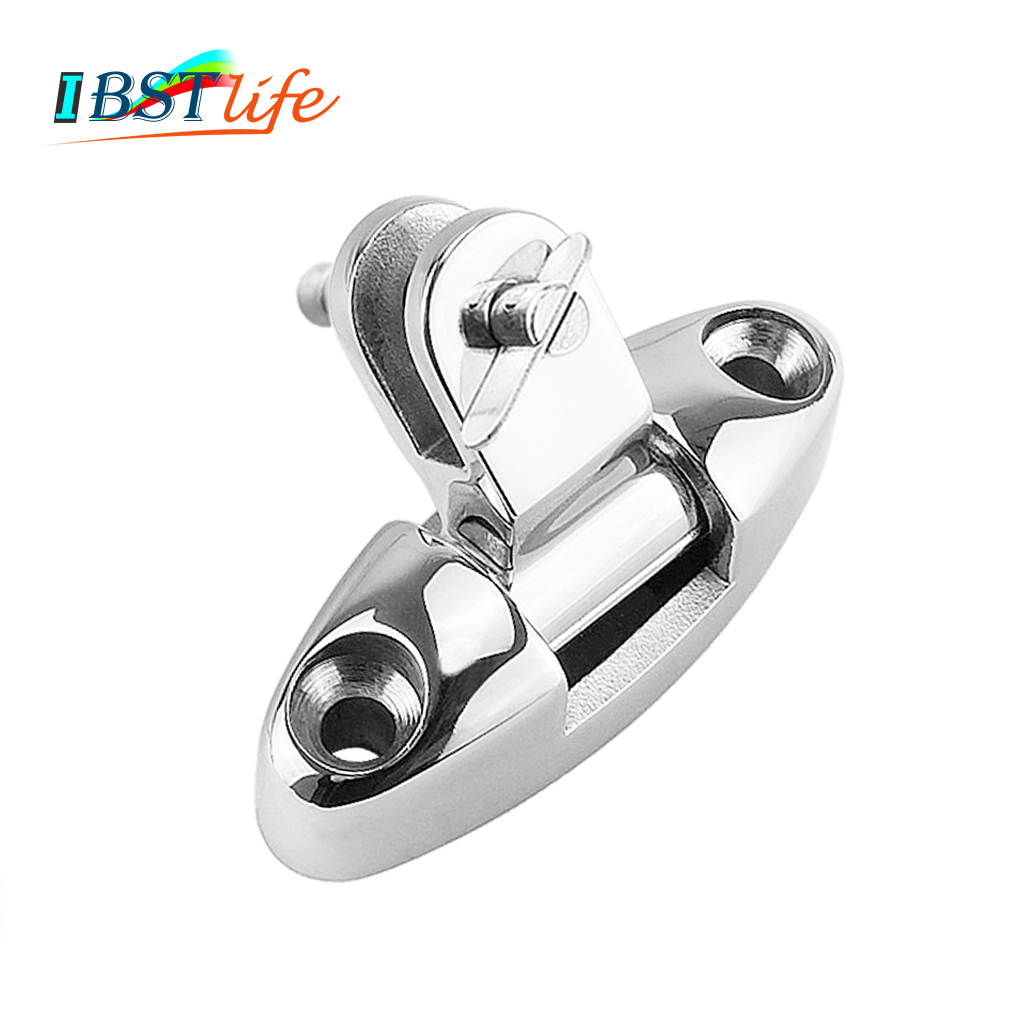 DECK HINGE Mount w// Quick Release Pin Bimini Top Boat 316 Marine Stainless Steel