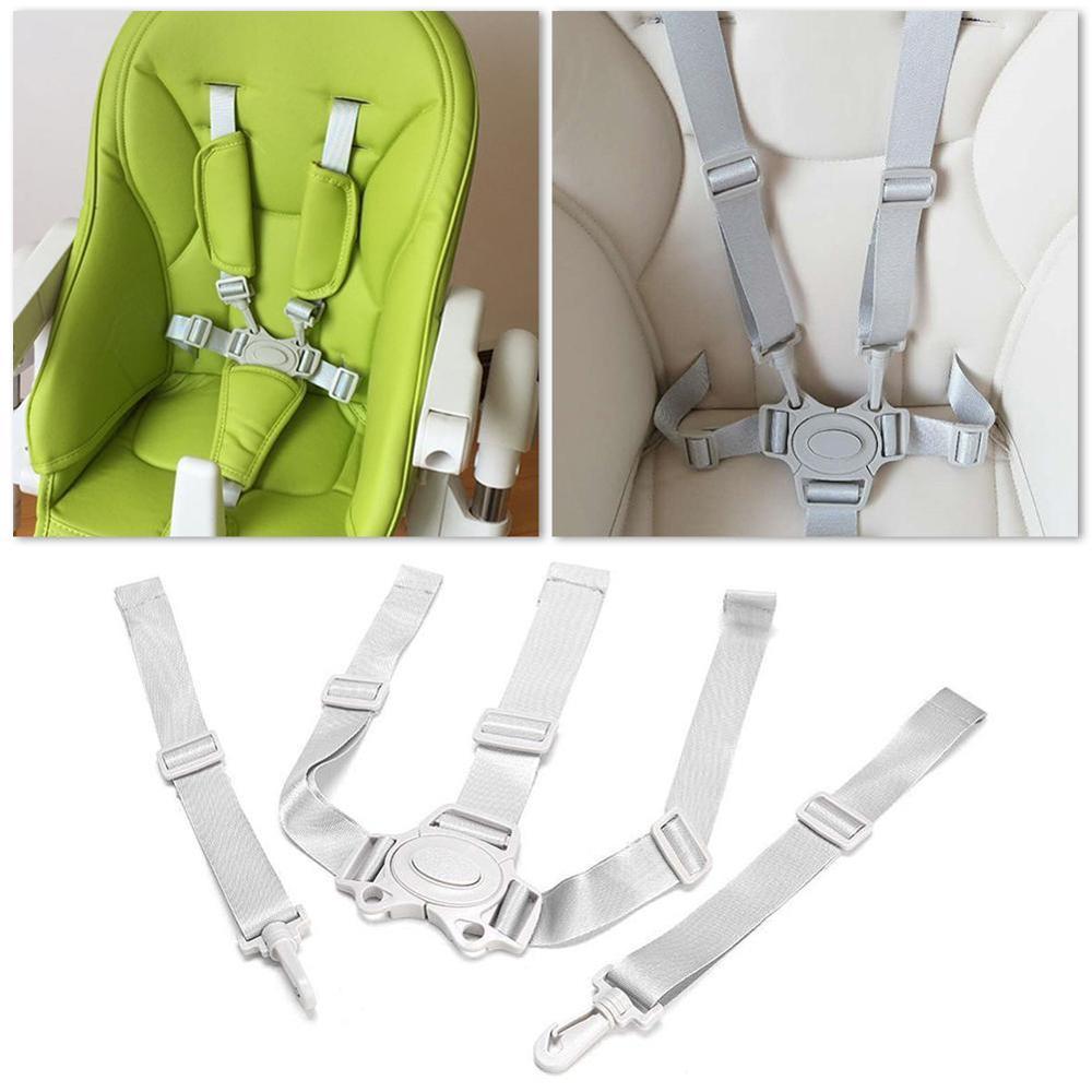 תינוק אוניברסלי 5 נקודות רתמו כיסא גבוהה בטוח חגורת מושב חגורות עגלת עגלת ילדי קיד Pushchair ילד אוכל כיסא