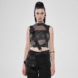 PUNK RAVE Frauen Schwere Metall Taille Tasche Pu Leder Schwere Metall Design Gefühl Einstellbare Metall Schnalle Frauen Gürtel Tasche