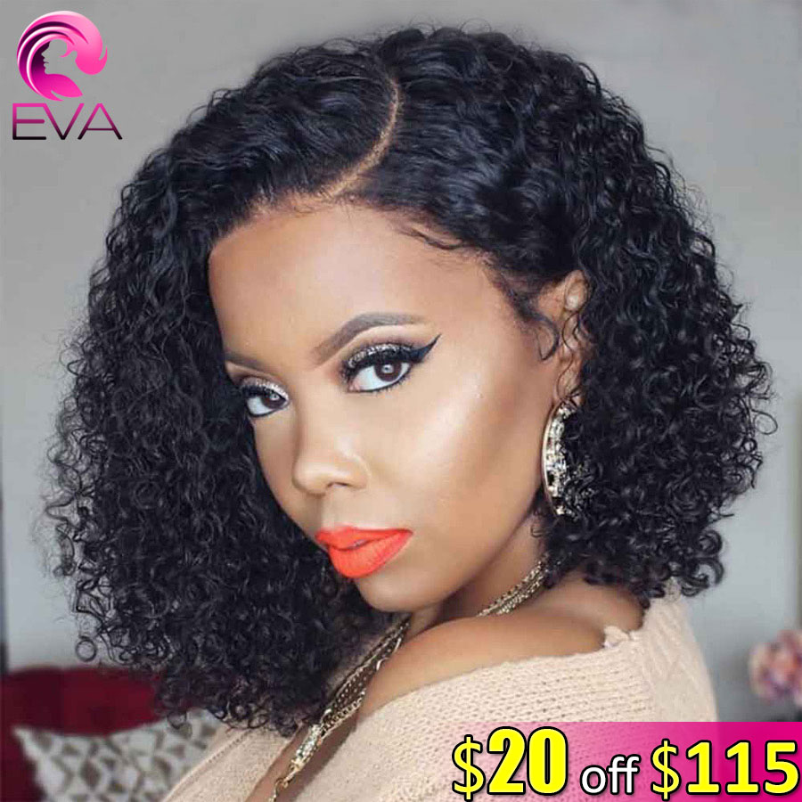 Eva Hair 150% 13x6 Lace Front Human Hair Wigs Pre Plucked With Baby Hair Short Bob Curly Brazilian Remy Hair Wig For Black Women