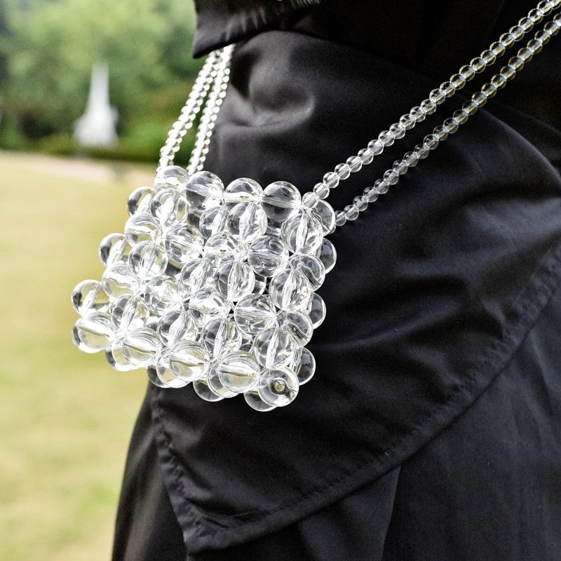 Дизайнерские роскошные женские сумки ручной работы с бусинами мини сумка через плечо с прозрачными кристаллами тканая сумка мессенджер Высокое качество груша сумки|Сумки с ручками|   | АлиЭкспресс