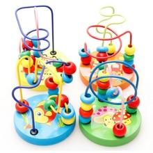 طفل رضيع التعليمية جميلة الحيوانات الخرز المستديرة الاطفال اللعب لحديثي الولادة الأطفال سرير عربة المحمول مونتيسوري 9*11 سنتيمتر