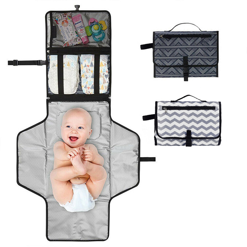 Portable Baby Nappy Diaper Pad Changing Mat for Travel with Waterproof Foldable