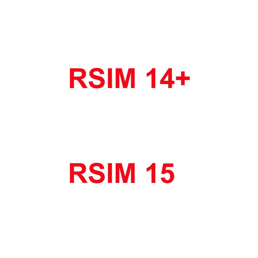 Original Unlock RSIM Card Large Capacity Universal Adapter For IPhone RSIM14+ RSIM15 RSIM 14+ 15 R-SIM 14+ R-SIM15 SIM Card Tool