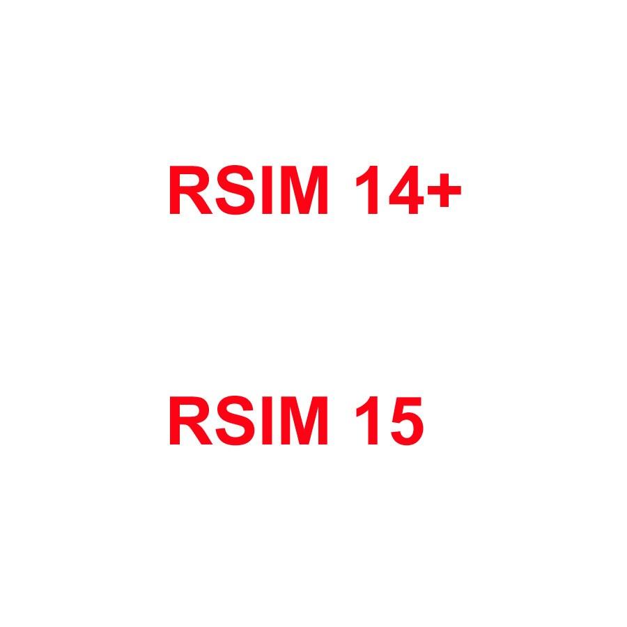 Original desbloqueado RSIM Tarjeta de gran capacidad adaptador Universal para IPhone RSIM14 + RSIM15 RSIM 14 + 15 R-SIM 14 + R-SIM15 para iOS 13,5 Apple iPhone 6S iOS Dual Core 4G LTE desbloqueado teléfono móvil 4,7