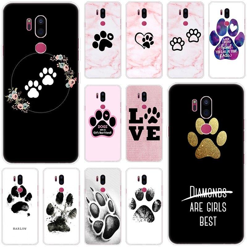 Best Friends Dog Paw Case For LG G5 G6 Mini G7 G8 G8S V20 V30 V40 V50 Thinq Q6 Q7 Q8 Q9 Q60 W10 W30 Aristo 2 X Power 2 3 Cover
